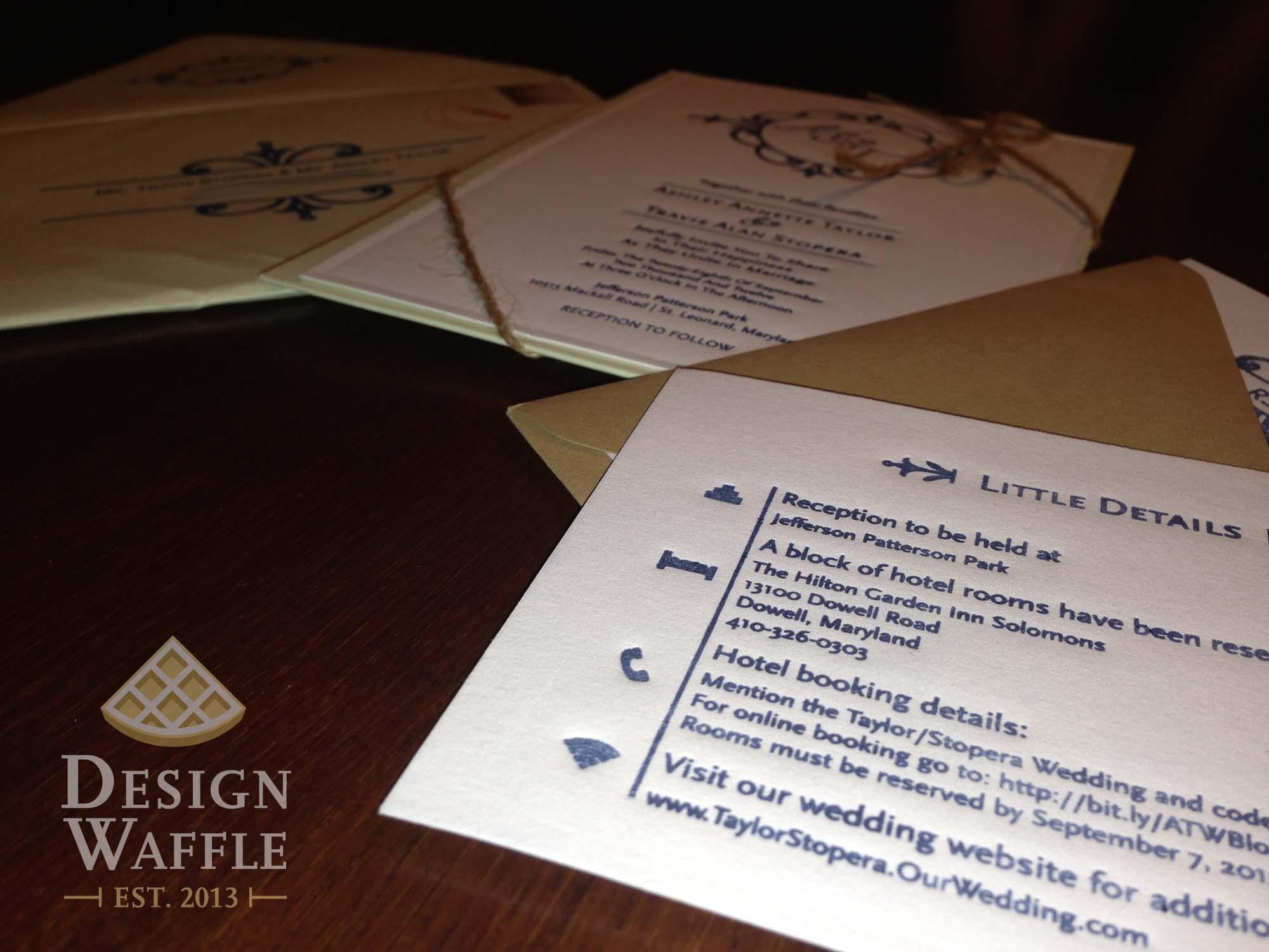 Letterpress Love – DIY Wedding Invitations   Design Waffle
