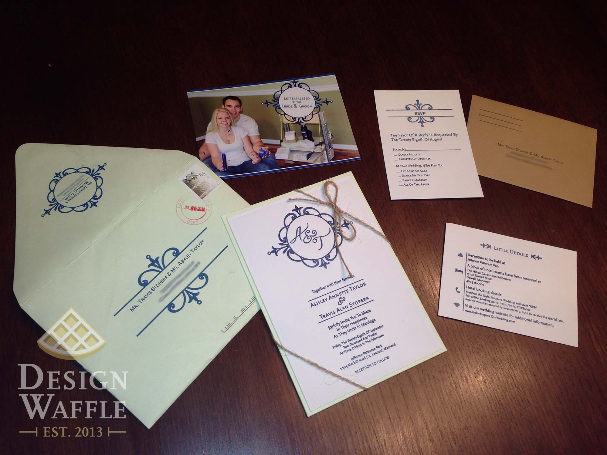 Diy letterpressed wedding invitations
