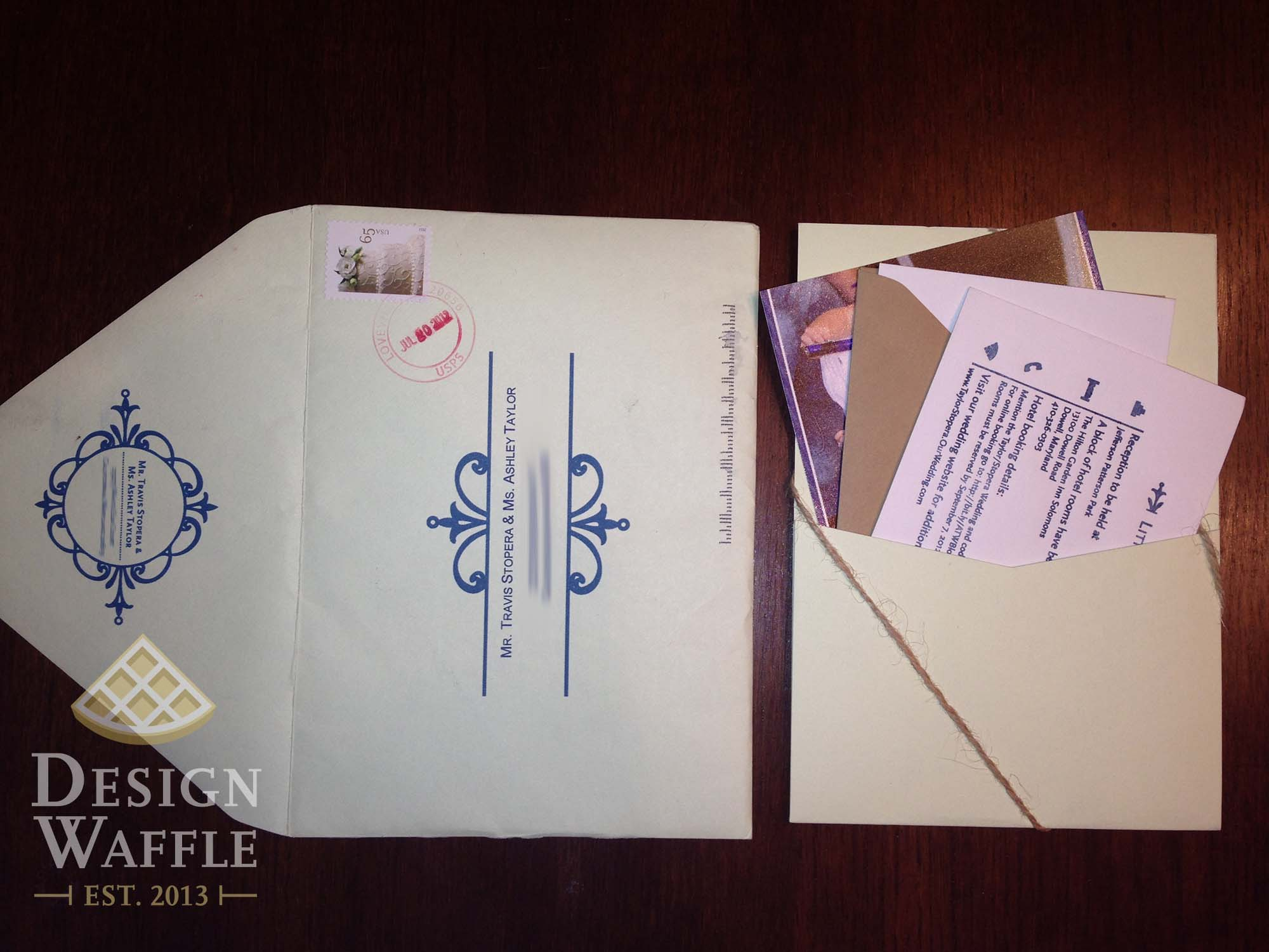 Letterpress Love DIY Wedding Invitations Design Waffle