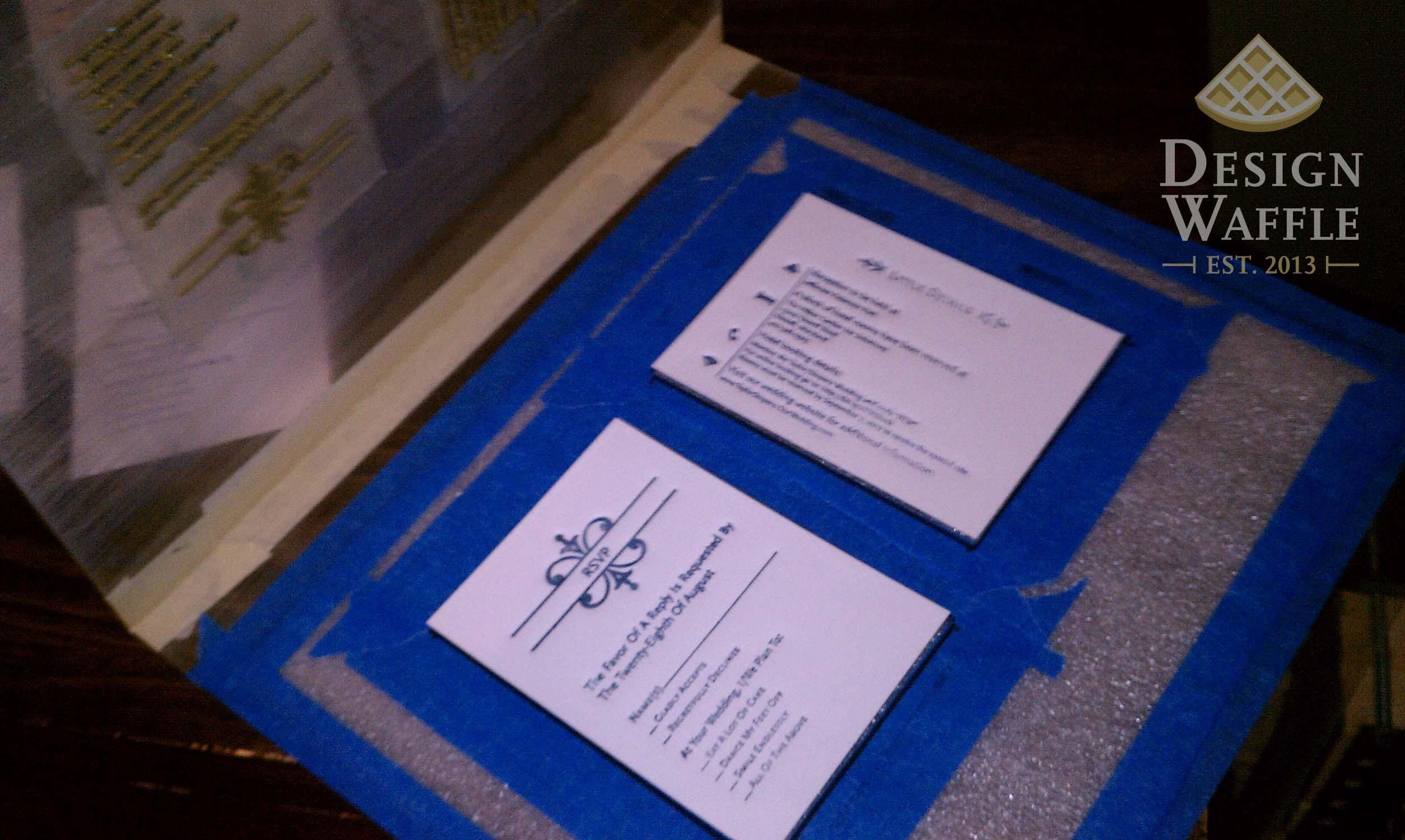 Letterpress love diy wedding invitations design waffle diy letterpressed wedding invitation setup solutioingenieria Images