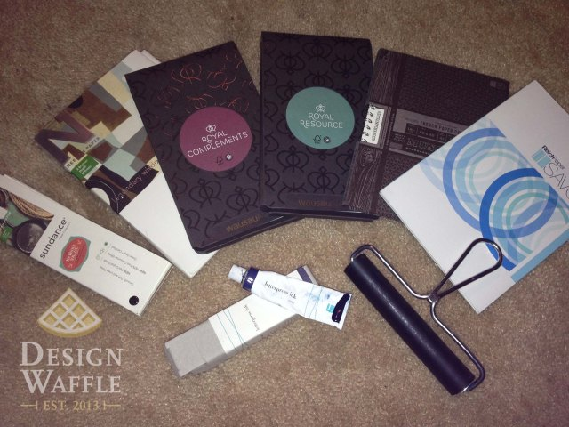 DIY letterpressed wedding invitation supplies