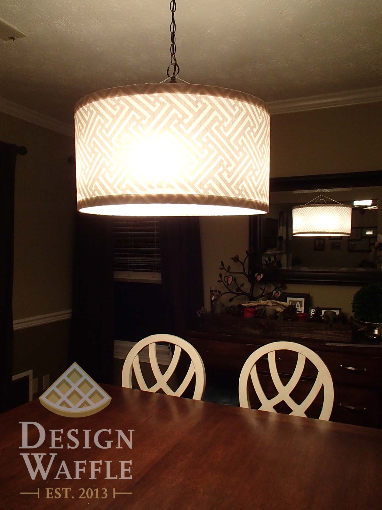 Diy chandelier drum shade design waffle diy chandelier drum shade aloadofball Gallery
