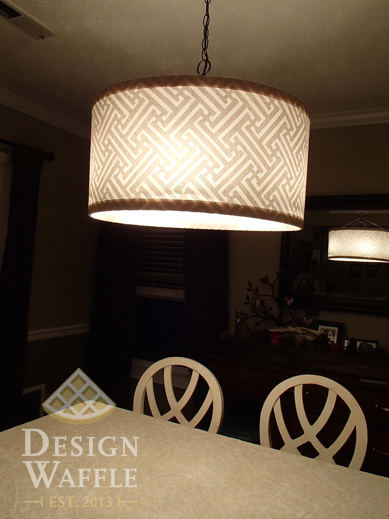 diy chandelier drum shade design waffle