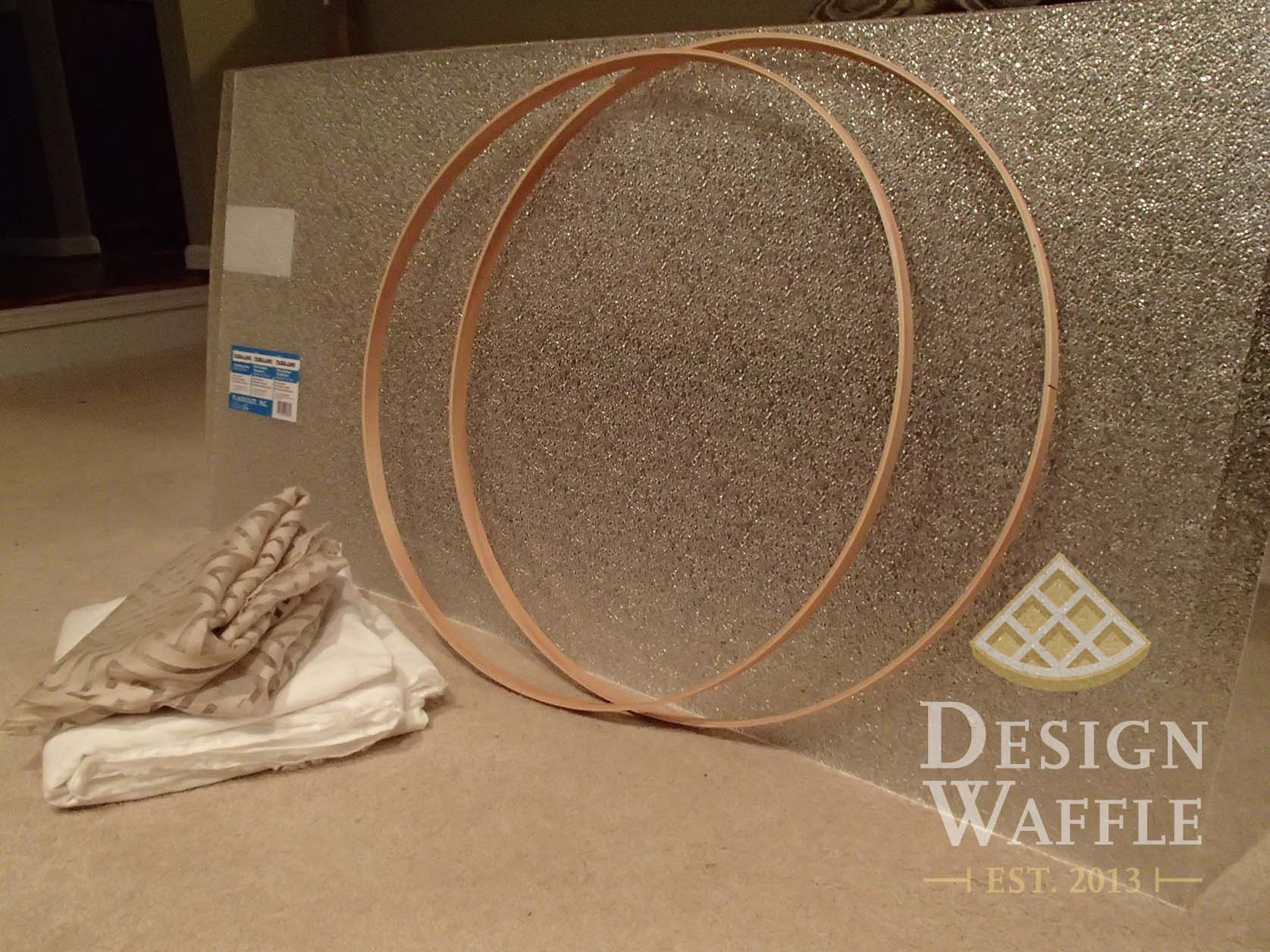 diy chandelier drum shade design waffle