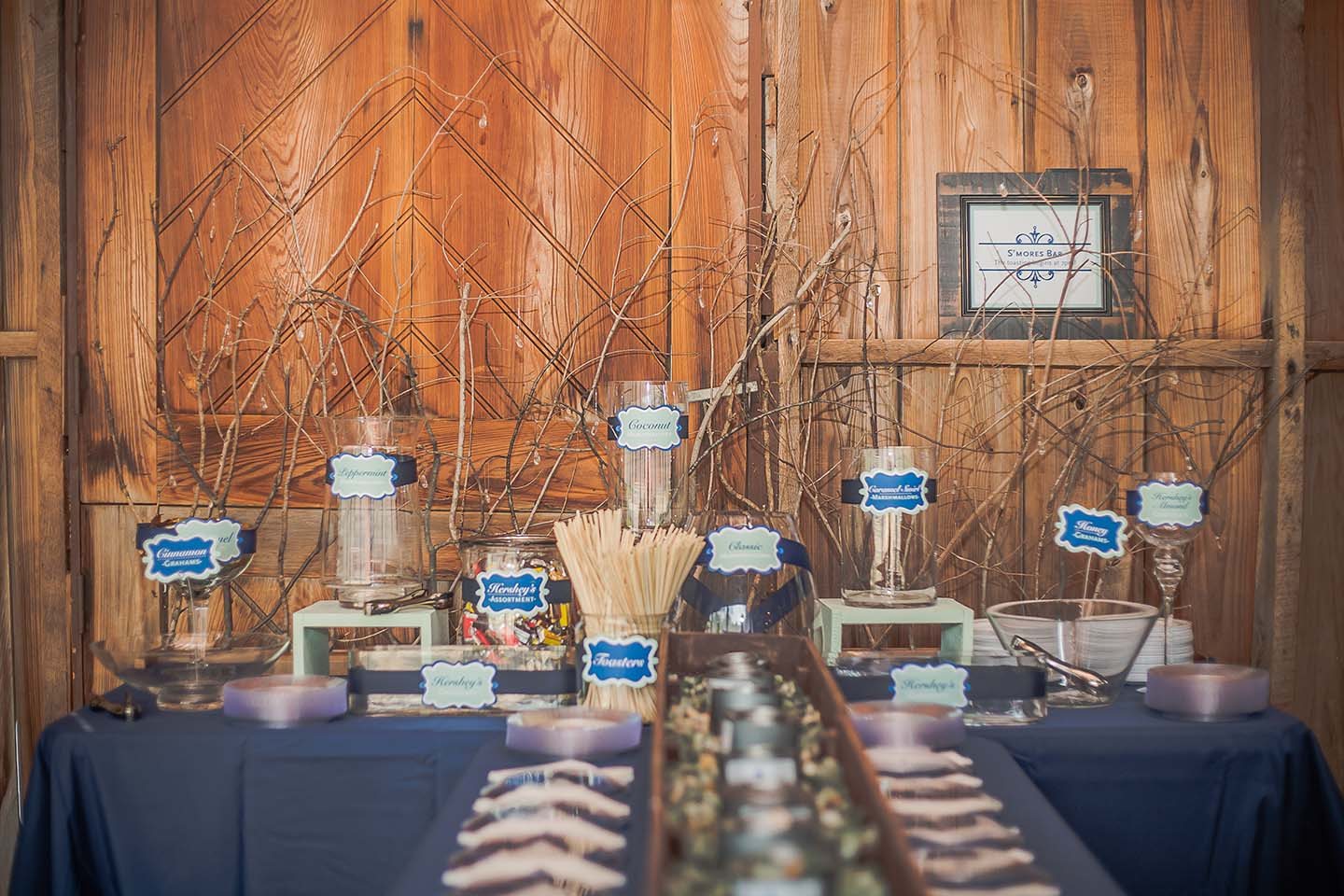 Wedding Smores Bar Design Waffle