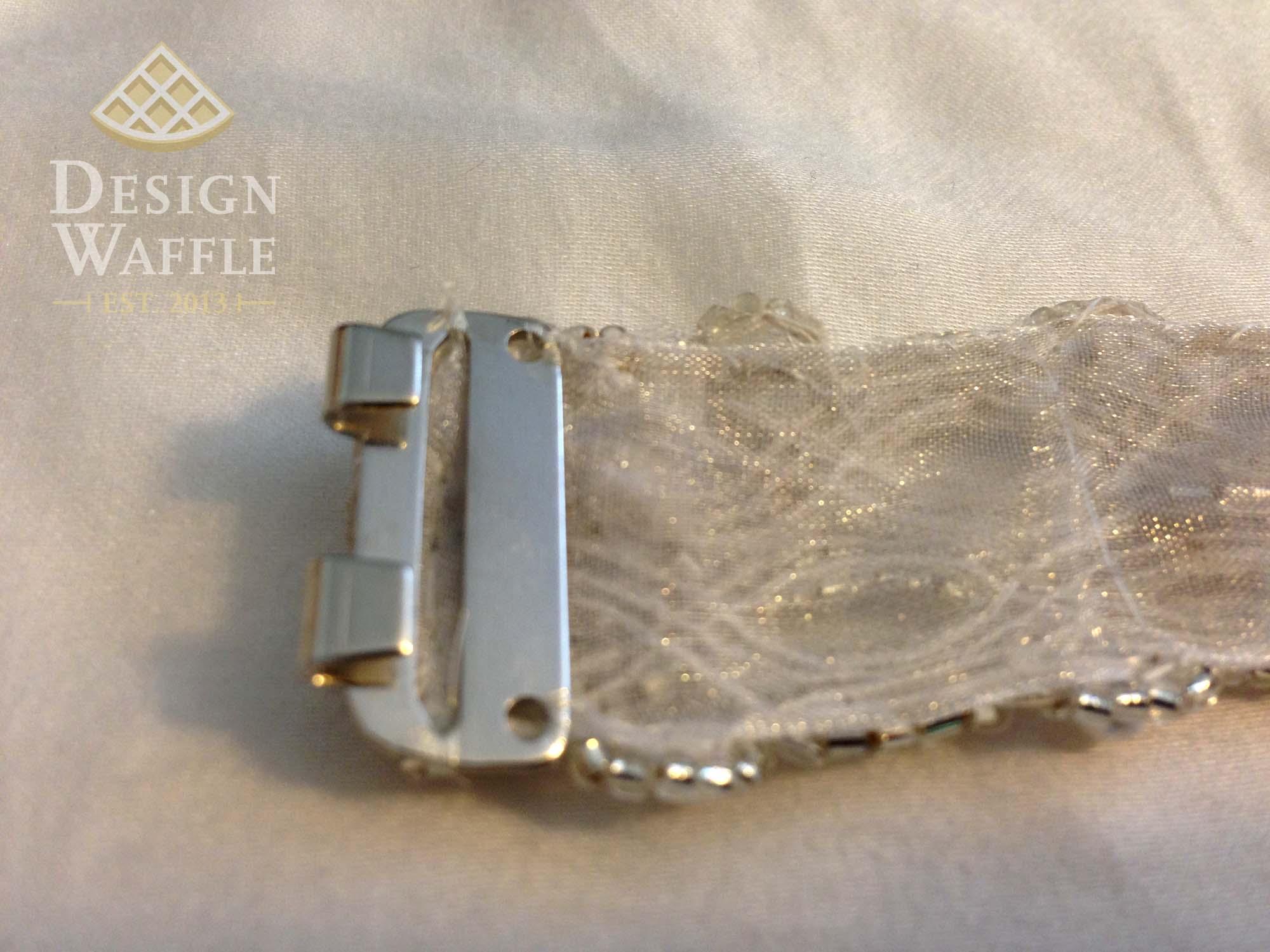 Diy beaded wedding belt design waffle diy wedding belt tutorial clasp solutioingenieria Images