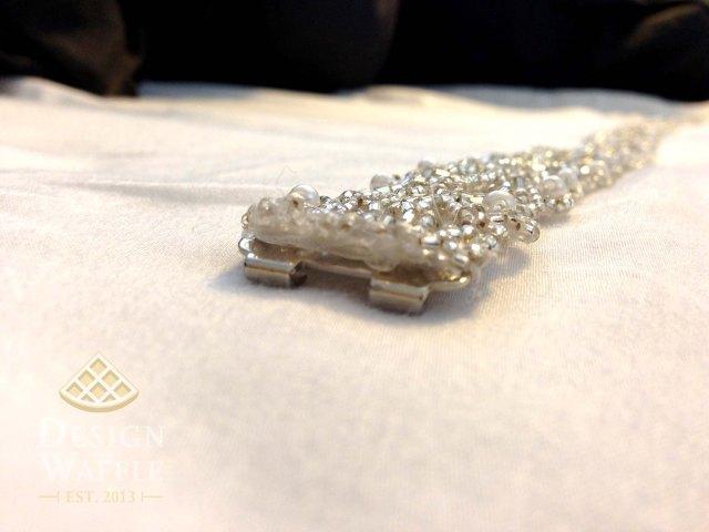 DIY beaded wedding belt