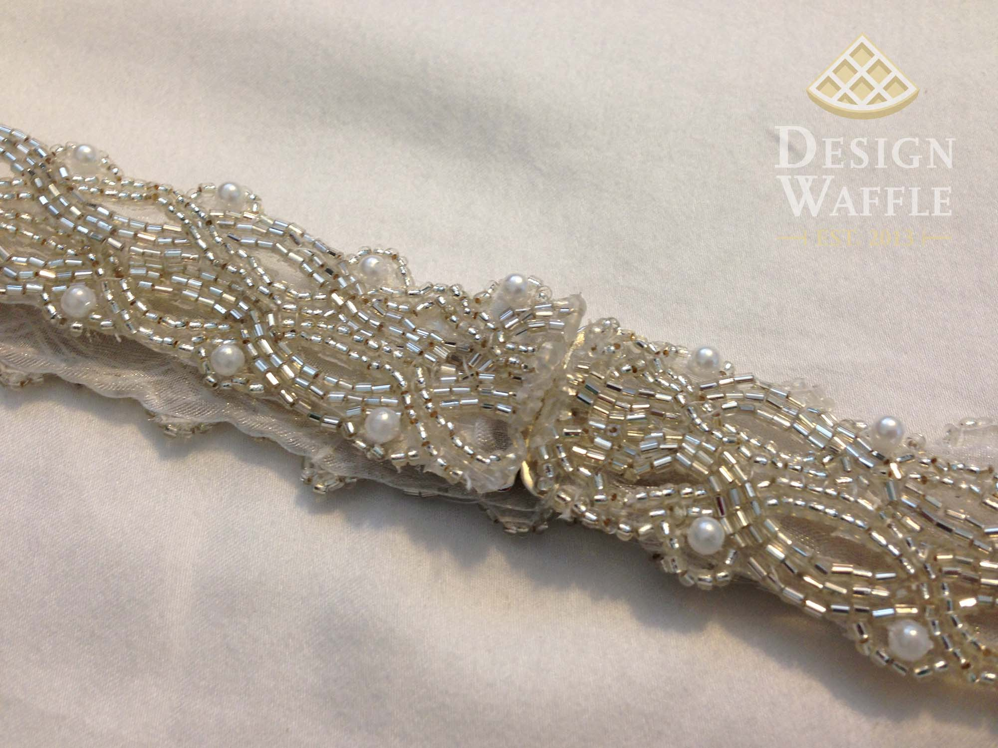 Diy beaded wedding belt design waffle diy beaded wedding belt tutorial solutioingenieria Gallery
