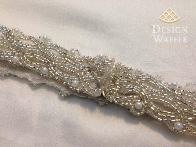 DIY beaded wedding belt tutorial