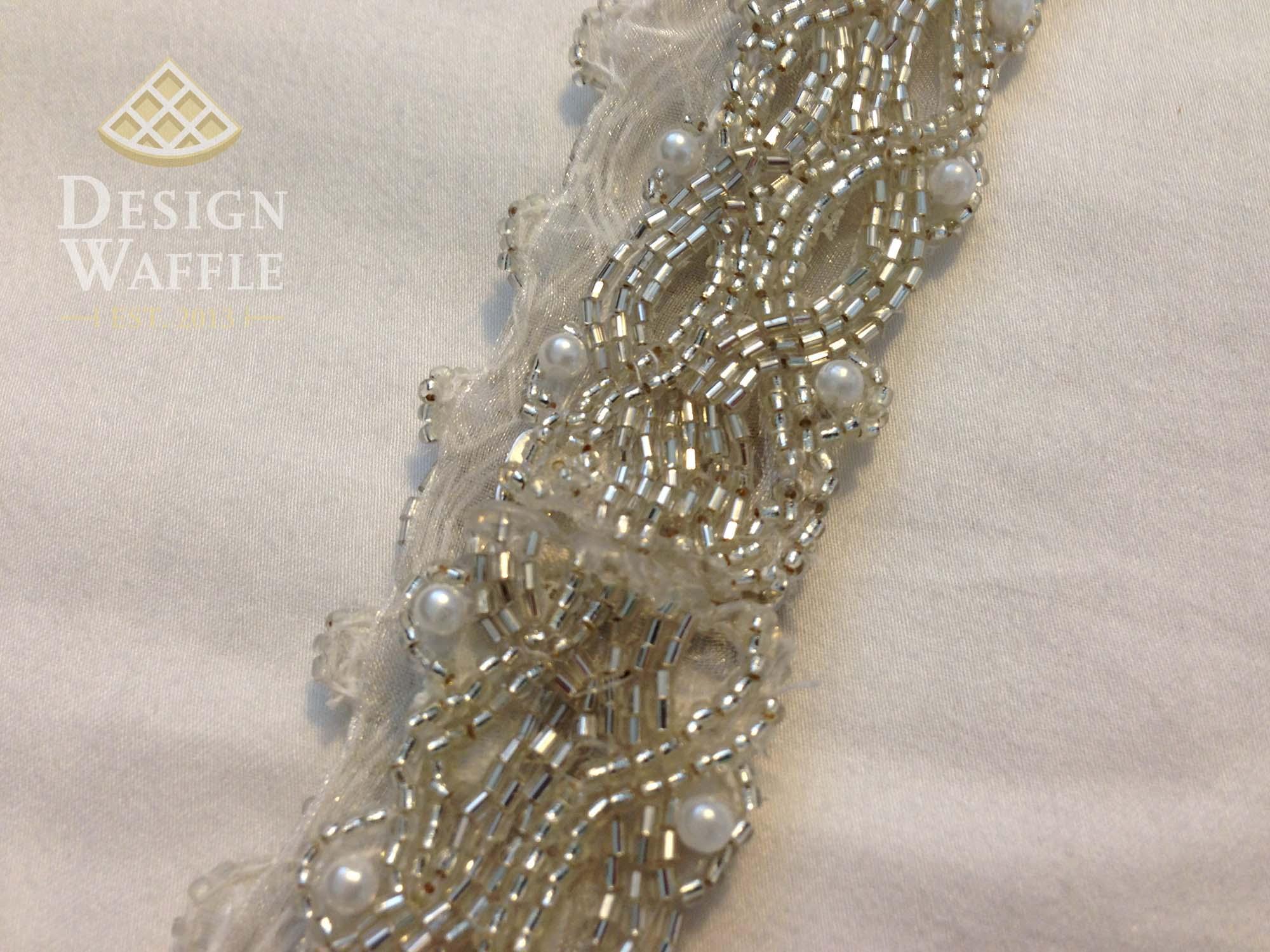 Diy beaded wedding belt design waffle diy beaded wedding belt tutorial solutioingenieria Images