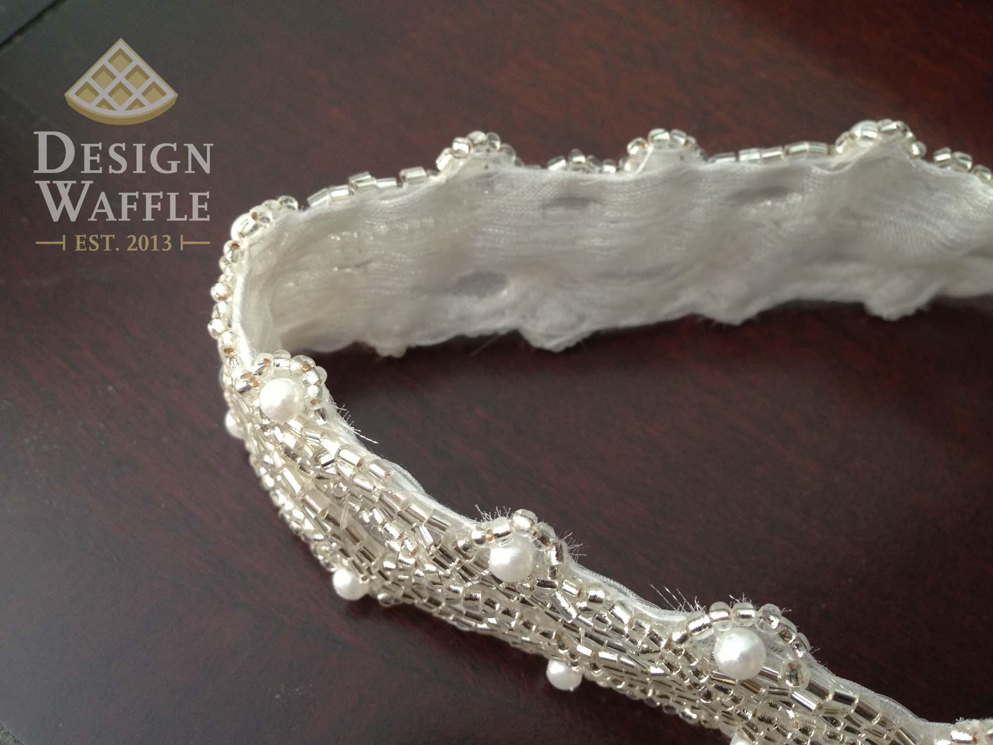 Diy beaded wedding belt design waffle diy beaded wedding belt solutioingenieria Gallery
