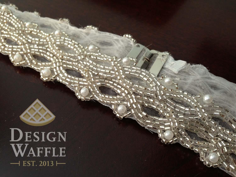 Diy beaded wedding belt design waffle diy beaded wedding belt solutioingenieria Images