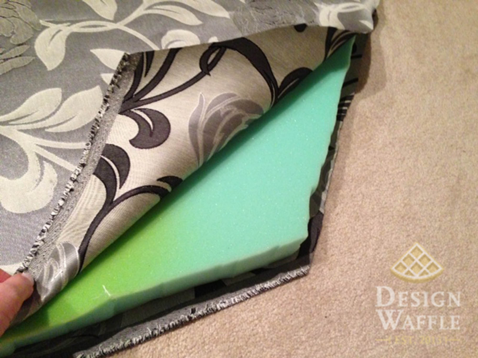 How to make bay window cushions - Window Seat Cushion Foam And Fabric