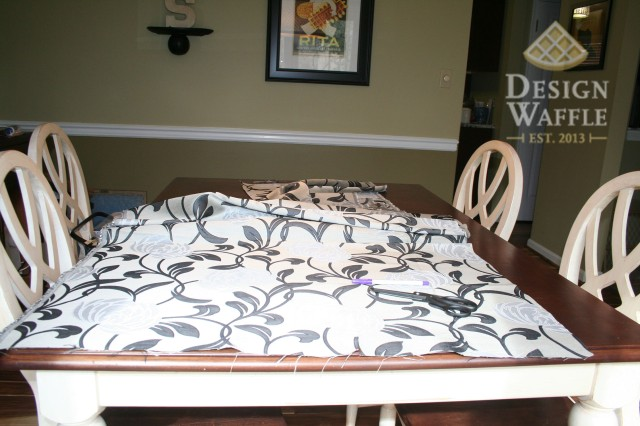 DIY window seat cushion fabric