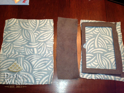 DIY kindle tablet case