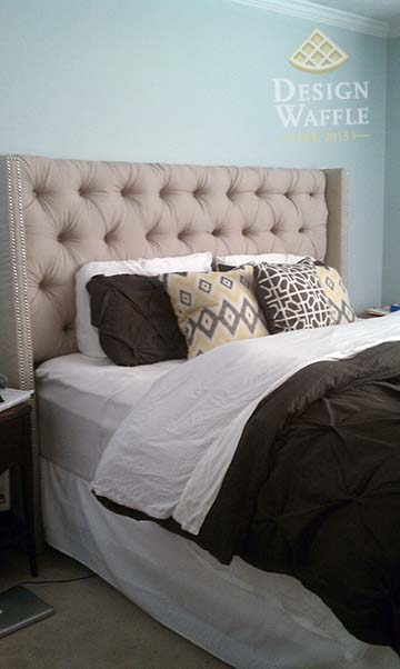 DIY Tufted Wingback Headboard | Design Waffle