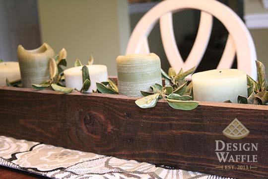 DIY wedding centerpiece repurposed
