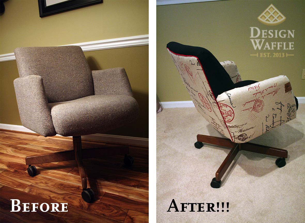 office chair makeover. Reupholstering An Office Chair Makeover C