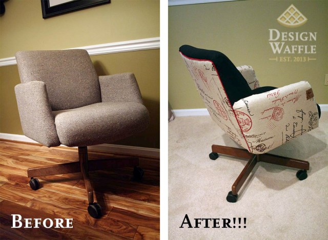 reupholstering an office chair