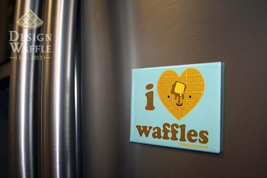 kitchen waffle magnet