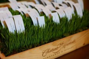 wheatgrass wedding centerpieces