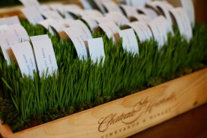 wheatgrass wedding centerpieces