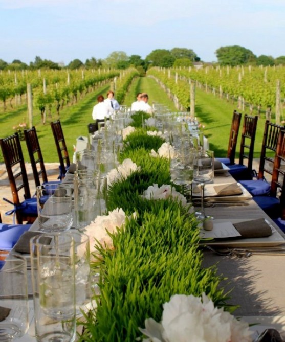 wheatgrass wedding centerpieces DIY