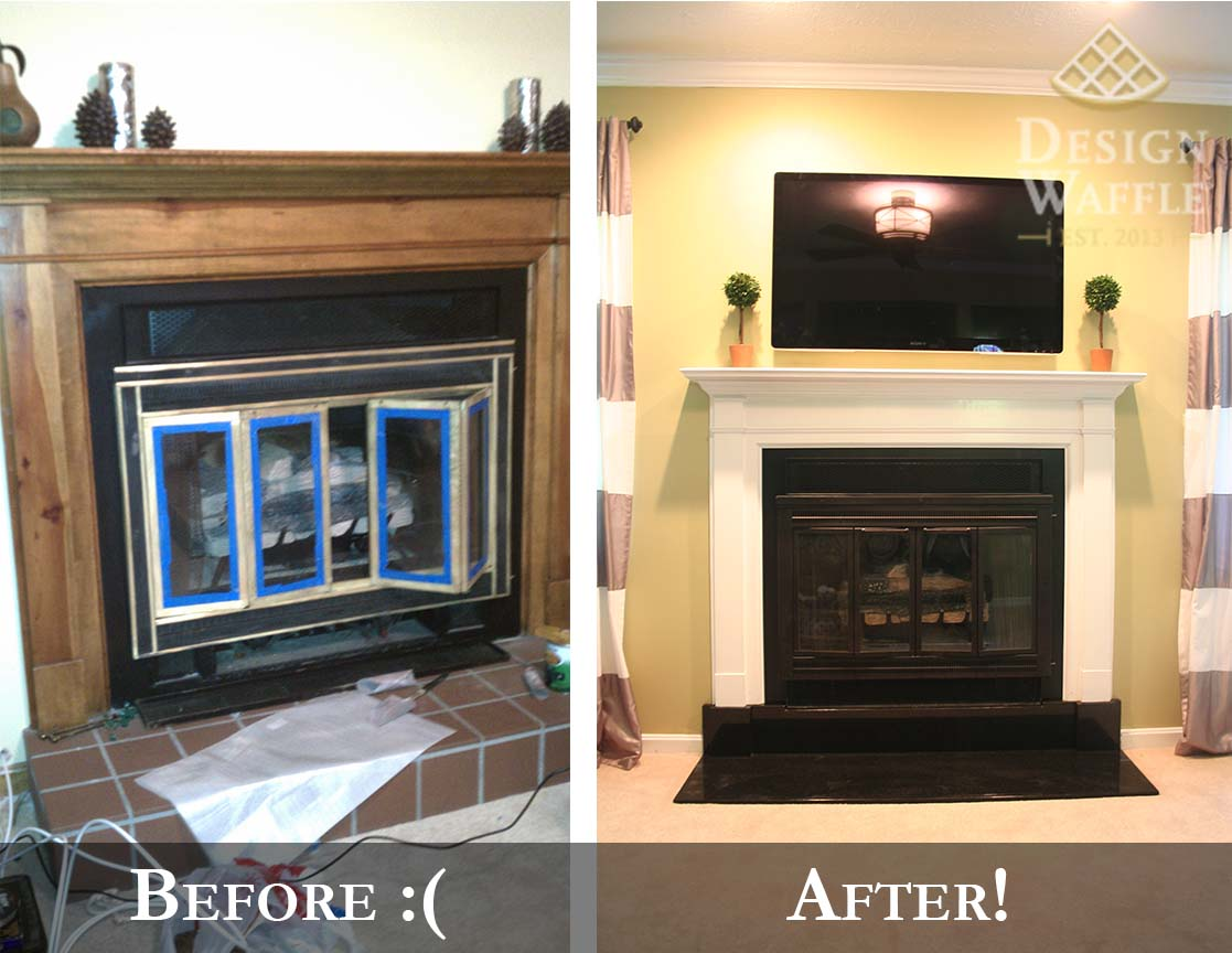 Fireplace Makeover Part 2 The Hearth Design Waffle