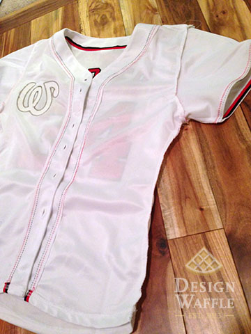 oversize to fitted baseball jersey