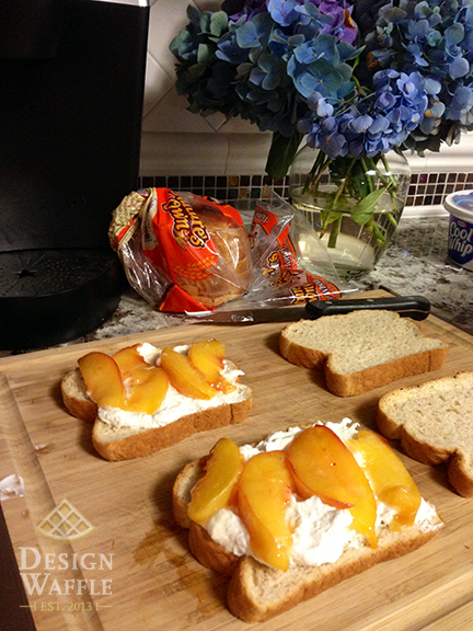 Peaches and Cream Breakfast Sandwich