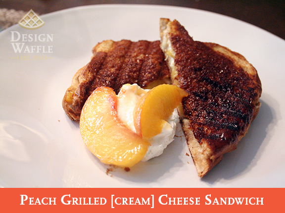 Peach Grilled Cream Cheese Sandwich