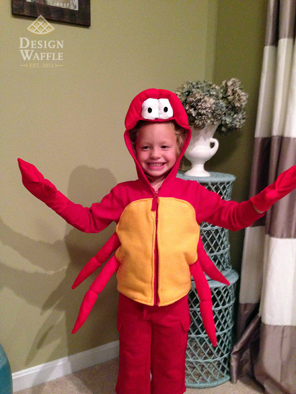 DIY Sebastian Crab Costume Little Mermaid  sc 1 st  Design Waffle & The Little Mermaid u2013 Sebastian Costume | Design Waffle