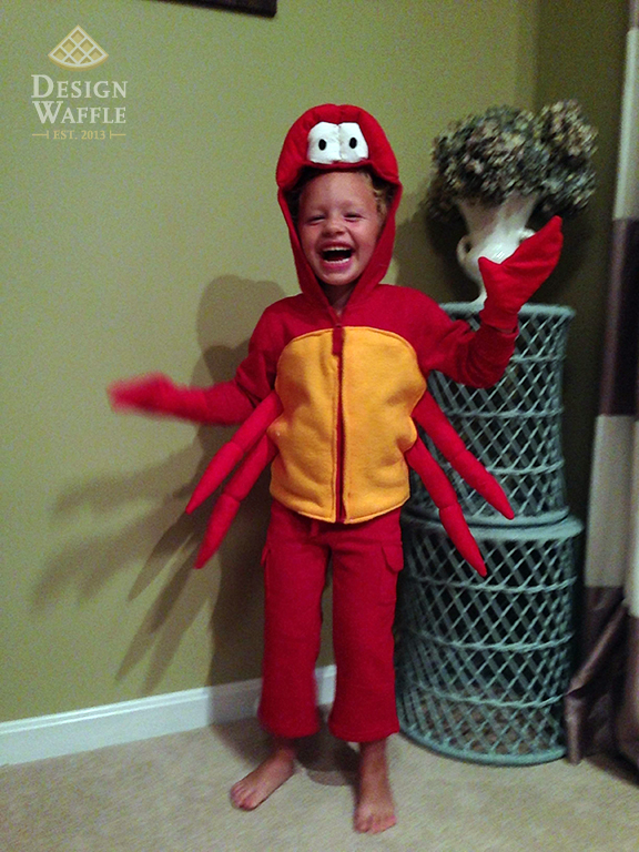 DIY Sebastian Crab Costume Little Mermaid