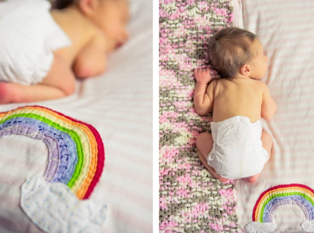 rainbow blanket tutorial