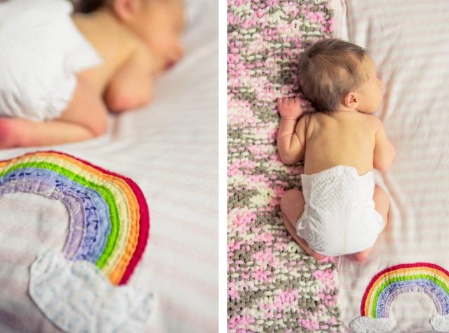 rainbow blanket tutorial